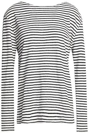 R13 Striped cotton-jersey top