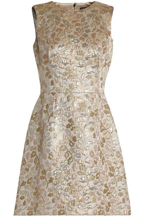 DOLCE & GABBANA Silk-blend brocade mini dress