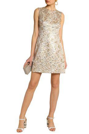 Dolce Gabbana Silk Blend Brocade Mini Dress