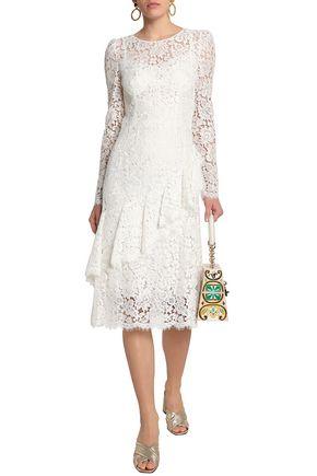 DOLCE & GABBANA Ruffled corded lace dress