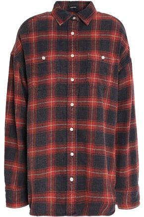 R13 Checked cotton-flannel top