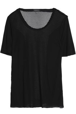KORAL Latch Tencel-jersey and mesh T-shirt