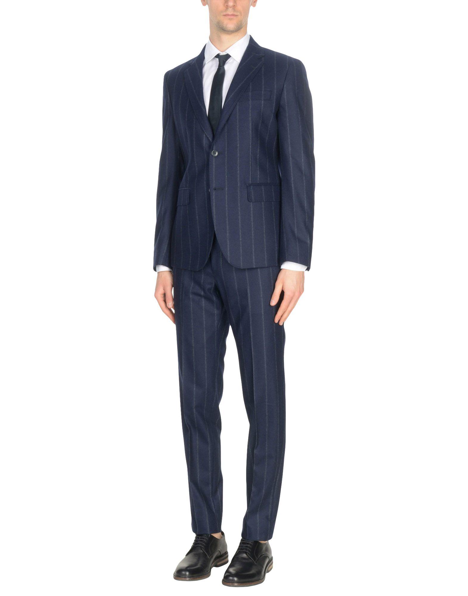 《送料無料》BRIAN DALES メンズ スーツ ダークブルー 52 ウール 100%