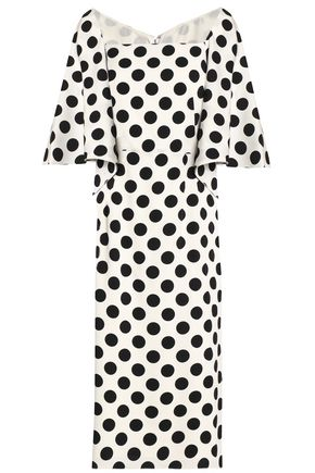 DOLCE & GABBANA Polka-dot silk-blend dress