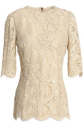 DOLCE & GABBANA Cotton-blend corded lace top