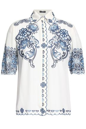 DOLCE & GABBANA Scalloped broderie anglaise shirt