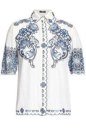 DOLCE & GABBANA Scalloped broderie anglaise shirt