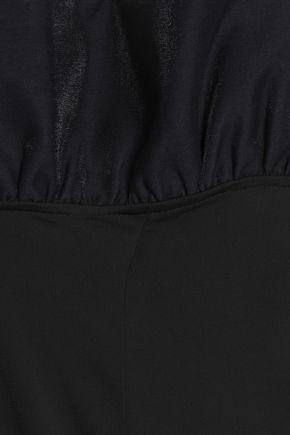 PAPER London Riptide cropped ruffled crepe jumpsuit