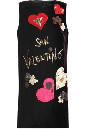 DOLCE & GABBANA Embellished velvet mini dress