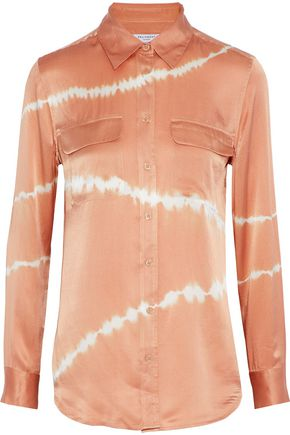 EQUIPMENT Slim Signature tie-dye washed-silk shirt