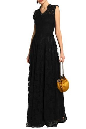 DOLCE & GABBANA Cotton-blend lace gown