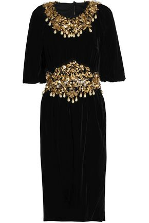 DOLCE & GABBANA Embellished chenille dress