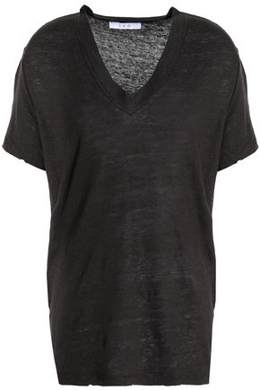IRO Linen slub-jersey T-shirt