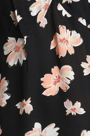 JOSEPH Inga floral-print woven dress