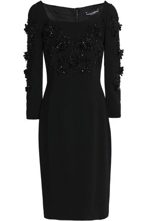 DOLCE & GABBANA Embellished crepe dress