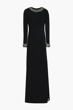 DOLCE & GABBANA Crystal-embellished crepe gown