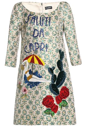 DOLCE & GABBANA Embellished brocade dress