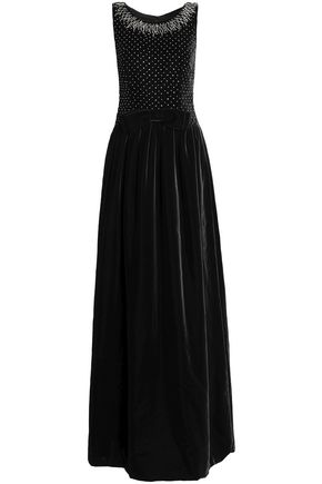DOLCE & GABBANA Embellished velvet gown