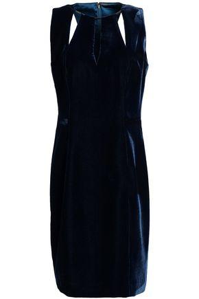 ELIE TAHARI Cutout velvet mini dress