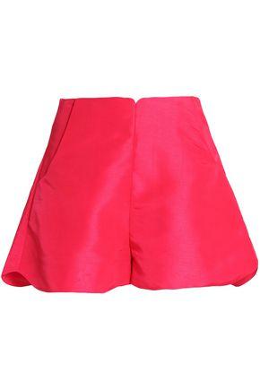 PAPER London Fraise scalloped shantung shorts