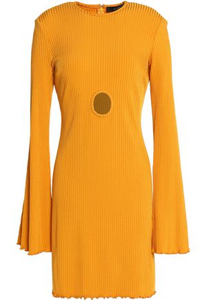 ELLERY Sunshine Kid cutout ribbed-knit mini dress