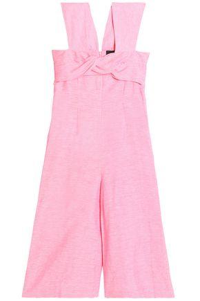 PAPER London Cali twist-front cropped linen jumpsuit