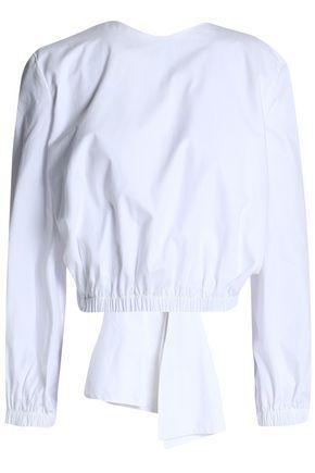 PAPER London Open-back cotton-poplin top
