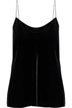 WOMAN VELVET CAMISOLE BLACK