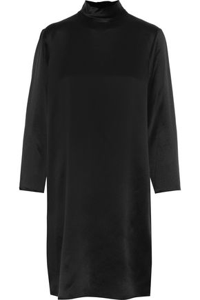 VINCE. Silk-satin turtleneck dress