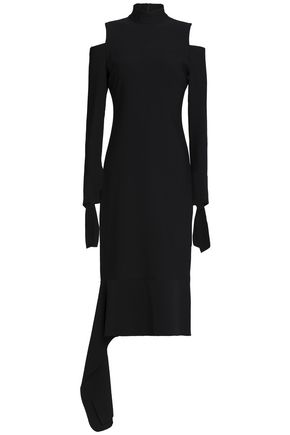 ALEXIS Katell cold-shoulder asymmetric cady dress