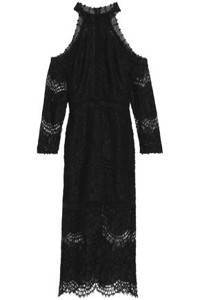 ALEXIS Marlowe cold-shoulder corded lace dress