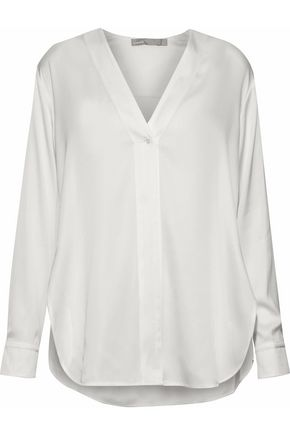 VINCE. Stretch-silk blouse