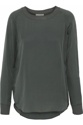 VINCE. Silk crepe de chine top