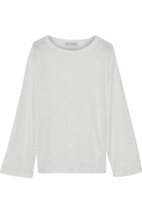 VINCE. Mélange jersey top