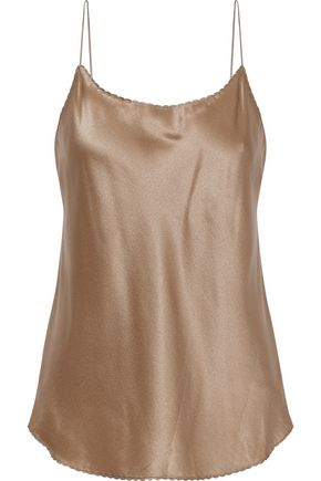 VINCE. Scalloped silk top