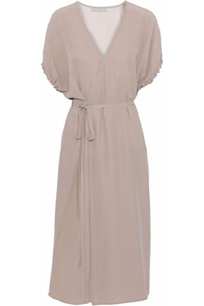 VINCE. Wrap-effect silk-crepe dress
