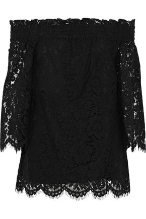 RACHEL ZOE Brody off-the-shoulder corded lace top