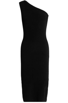 AUTUMN CASHMERE One-shoulder ribbed-knit dress