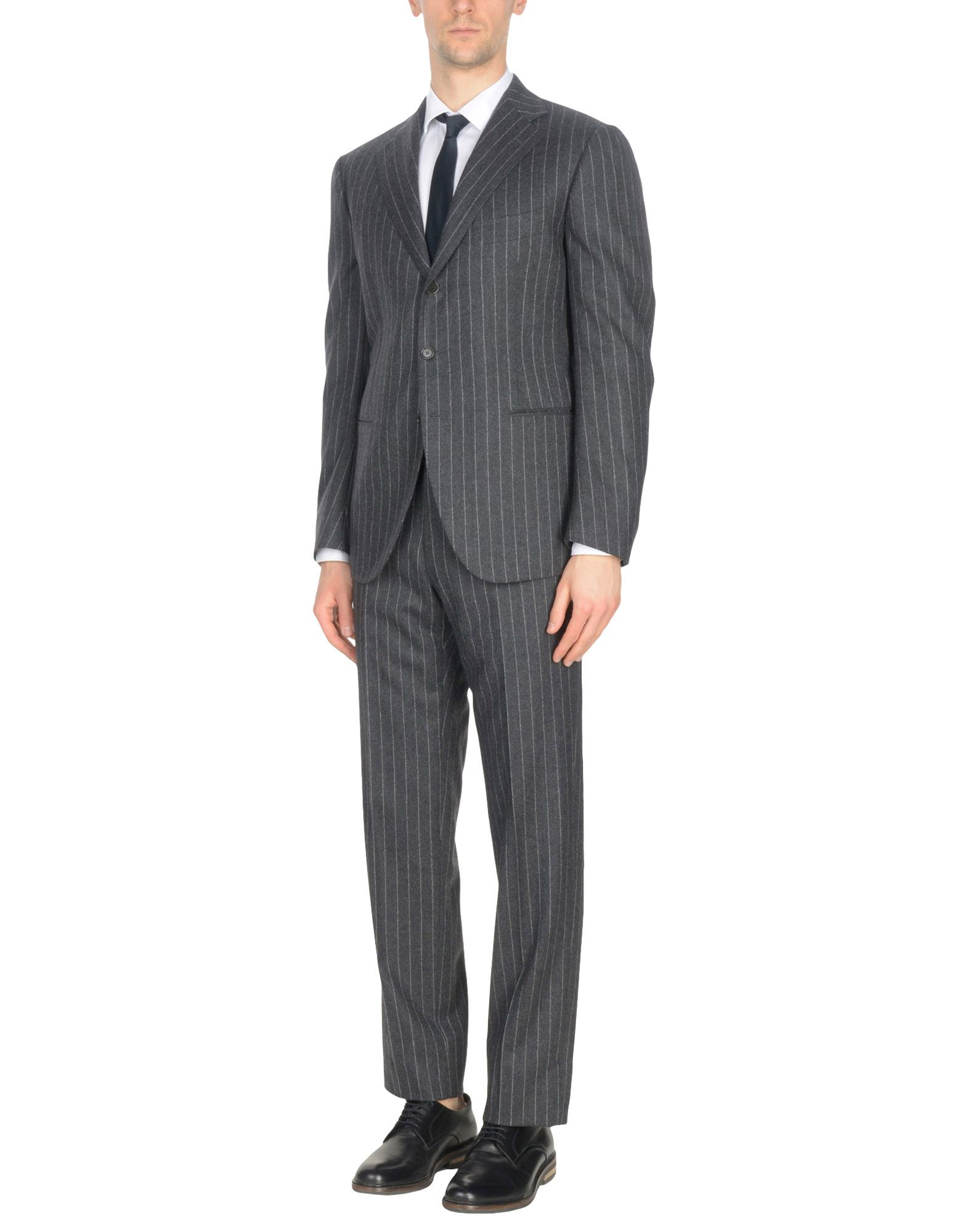 CESARE ATTOLINI Suits in Steel Grey