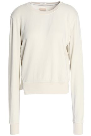 MOTHER Asymmetric cotton-jersey sweatshirt