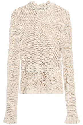 MAGDA BUTRYM Crocheted cotton-blend top