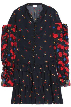 MAGDA BUTRYM Metz ruffled floral-print silk-crepe dress