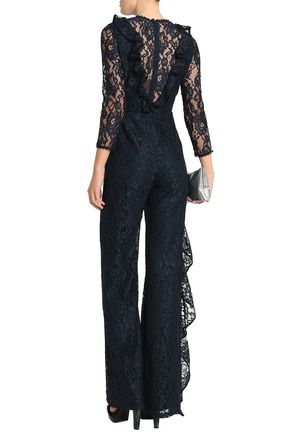 ALEXIS Ruffle-trimmed corded lace jumpsuit