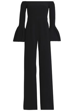 ALEXIS Astoria off-the-shoulder crepe jumpsuit