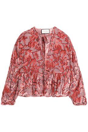 ALEXIS Silk devor�-velvet blouse
