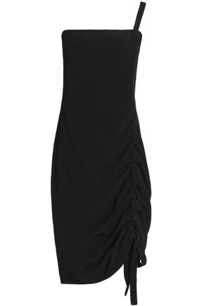 ALEXIS Staz one-shoulder ruched crepe mini dress