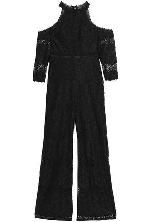 ALEXIS Cold-shoulder corded lace jumpsuit