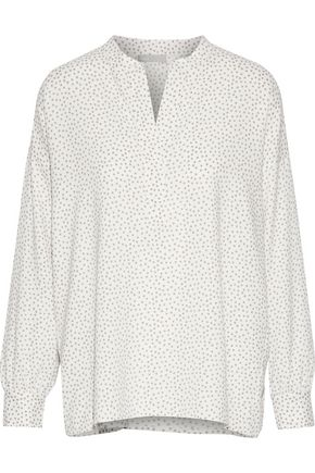 VINCE. Printed stretch-silk blouse