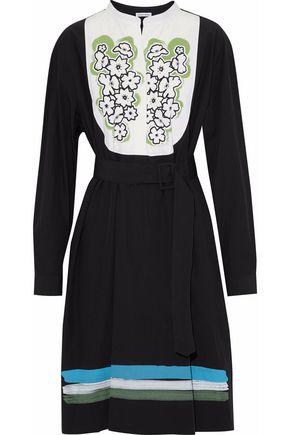 TOMAS MAIER Belted printed cotton-poplin shirt dress
