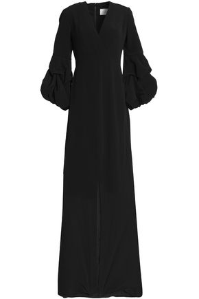 ALEXIS Nova wrap-effect crepe maxi dress